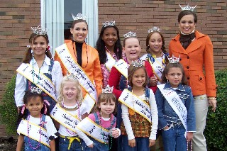 Festival queens with Miss NC Amanda Watson
