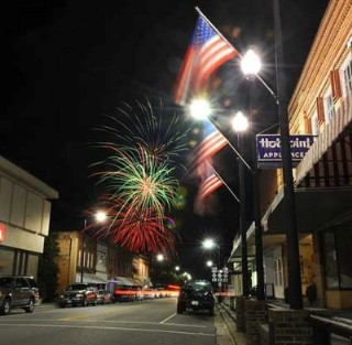 Fireworks in Downtown Fairmont