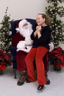 Santa Claus and Haley Ivey