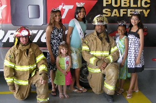 Queens with Firefighters